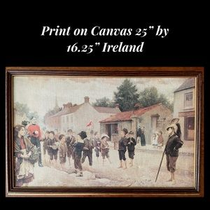 """Print on Canvas from Ireland Framed 16.25"""" by 25"""""""